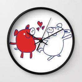 Dancing Pigs Wall Clock