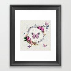 Papillons Framed Art Print