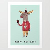 'Happy' Holidays Art Print