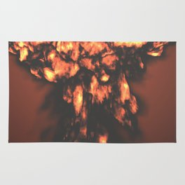 A nuclear explosion Rug