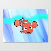 nemo Canvas Prints featuring Nemo by paulusjart