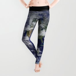Planet Earth - The Blue Marble From Space Leggings