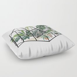 greenhouse with plants Floor Pillow