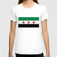 "islam T-shirts featuring Syrian ""independence flag""  High quality authentic color and scale version by Bruce Stanfield"