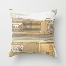 Mustang Cali. Throw Pillow