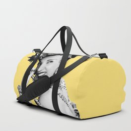 Carmen Miranda Portrait, Black and White Artwork for Wall Art, Prints, Posters, Tshirts, Bags, Men, Duffle Bag