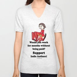 Support Indie Authors Unisex V-Neck