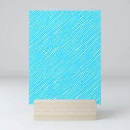 19 Blue Scratch Mini Art Print