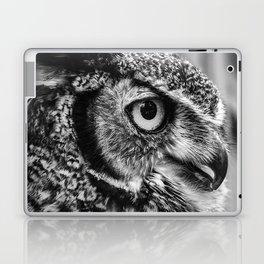Bird Photography | Owl Black and White Minimalism | Wildlife | By Magda Opoka Laptop & iPad Skin