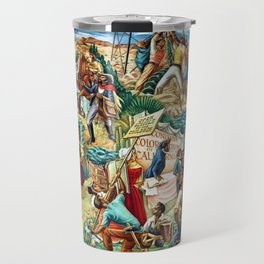 """African American Classical Masterpiece """"Justice Under the Law"""" by Hale Woodruff Travel Mug"""