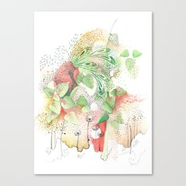 Jardin rojo Canvas Print