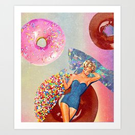Foods Before Dudes Art Print