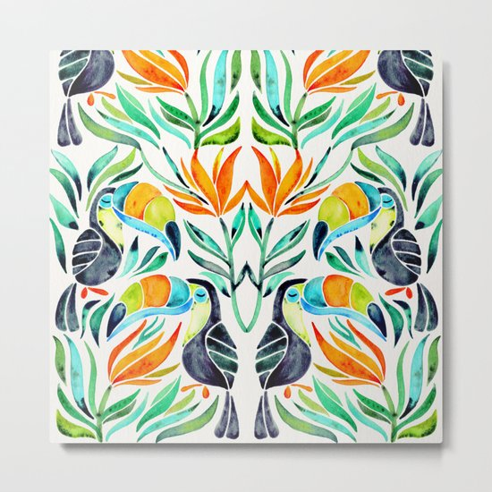 Tropical Toucans Metal Print