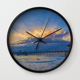 Sunset Sunburst Wall Clock