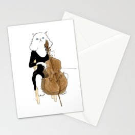 1006 Cello Cat Stationery Cards