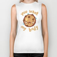 cookie Biker Tanks featuring Kinky Cookie by Artistic Dyslexia