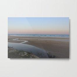 Fraser Island Sunet Metal Print
