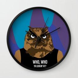 Hoot, Hoot, Who? Wall Clock