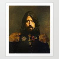 foo fighters Art Prints featuring Dave Grohl - replaceface by replaceface