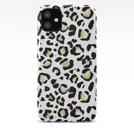 Leopard Animal Print Watercolour Painting iPhone Case