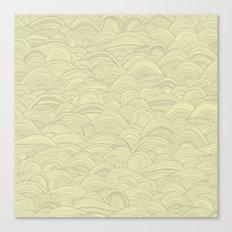 just waves natural Canvas Print