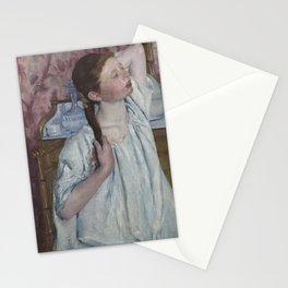 Mary Cassatt - Girl Arranging Her Hair Stationery Cards