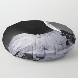 SpaceX Mission to Mars Martian Landscape Dragon Floor Pillow