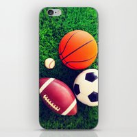 sports iPhone & iPod Skins featuring SPORTS by Ylenia Pizzetti