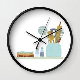 The Kitchen Shelf Wall Clock