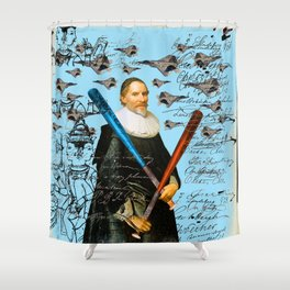 THE F22 RAPTOR HUNTER IN EARLY SPRING II Shower Curtain