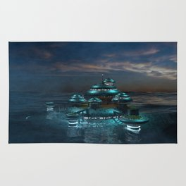 Futuristic Sea City Rug