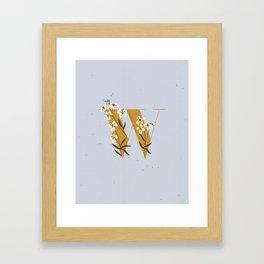 W for Wallflower Framed Art Print
