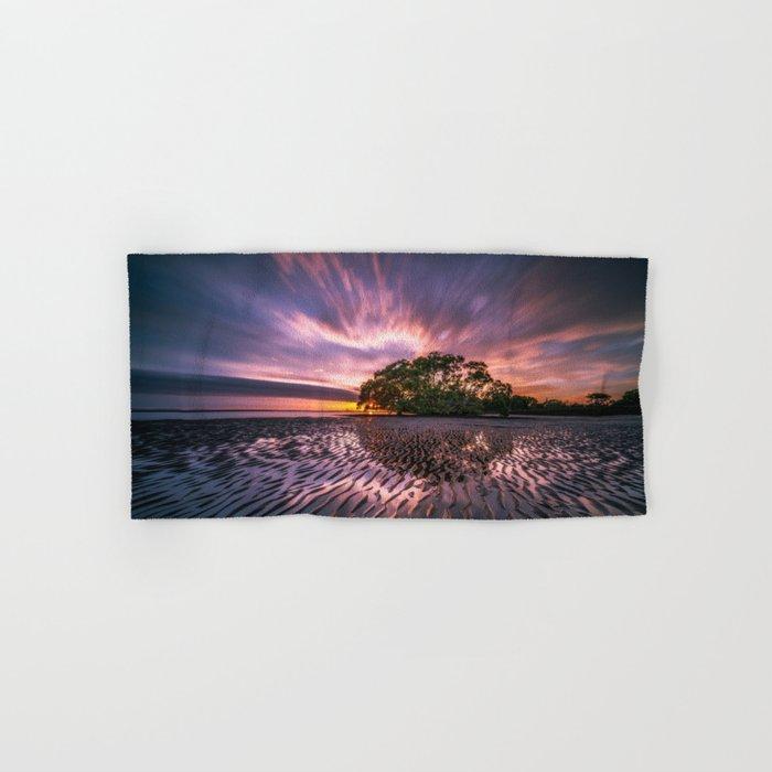 Landscape reflection 2 waves sky Hand & Bath Towel