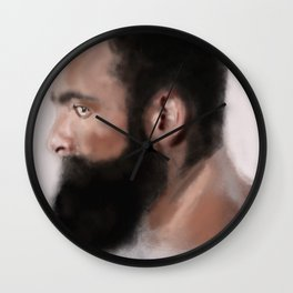 Bearded man Wall Clock