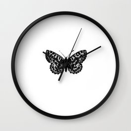 Minimalista borboleta 3 Wall Clock