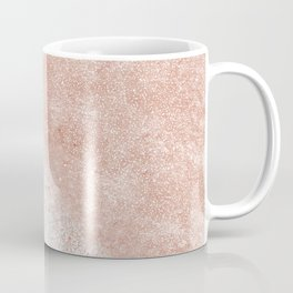 Elegant faux rose gold confetti white marble image Coffee Mug