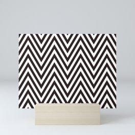 Scandinavian geometric black and white color pattern design Mini Art Print