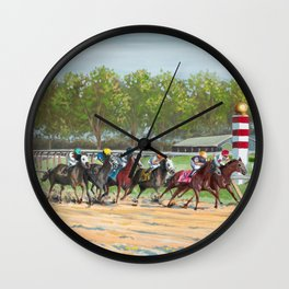 Stay In The Race Wall Clock
