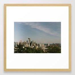 Postcard Seattle Framed Art Print