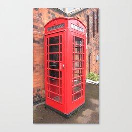 red phone call box london Canvas Print