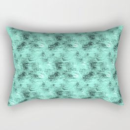 Patched Teal Waters Rectangular Pillow