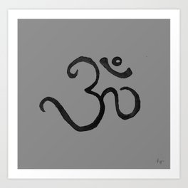 OM Yoga Art Print