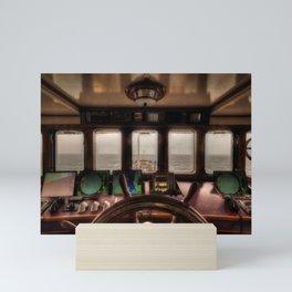 Behind the Wheel of the Ship Mini Art Print