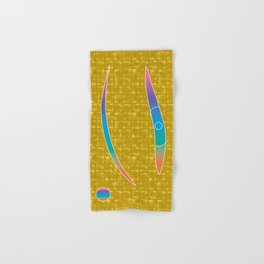 The Eye of MIROKU GOD on Gold-leaf Screen Hand & Bath Towel