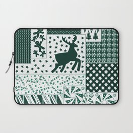 Holiday Green Quilt Design Laptop Sleeve