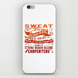 Carpenter Woman iPhone Skin