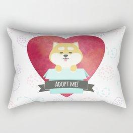 Pop-up Shiba Inu from the Box Rectangular Pillow