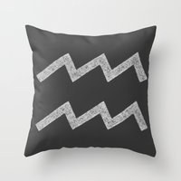 aquarius Throw Pillows featuring Aquarius by David Zydd