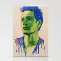 james franco Stationery Cards featuring James Franco by Kristy Holding