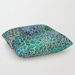 Floral Abstract 4 Floor Pillow